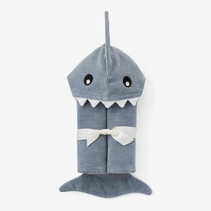 Shark Hooded Baby Bath Wrap