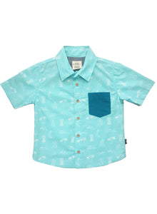 2yrs, 6yrs - Aloha Bermuda Button Down Shirt