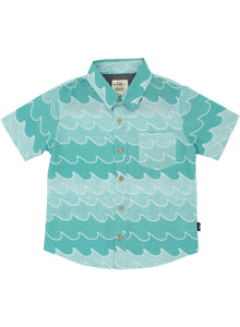 Cosmic Waves S/S Woven Shirt