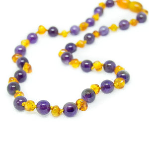 Polished Honey | Amethyst Authentic Certified Amber Necklace