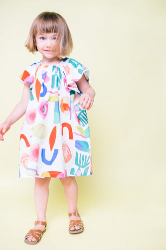 Abstract Flutter Dress