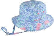 Girl's Reversible Bucket Hat - Tropics