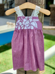 MADE IN HAWAII Purple Plumeria Dress