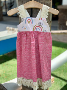 MADE IN HAWAII Boho Rainbow Dress