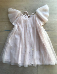 Starry Night Glimmer Light Pink Dress