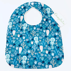 MADE IN HAWAII Minky Bib - Sea Creatures