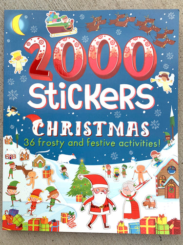 2000 Stickers - Christmas activity book