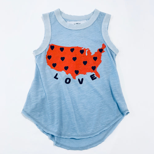 10yrs - Love on Chambray Tank