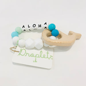 MADE IN HAWAII ALOHA Wooden Rattle Teether (5 color variants)