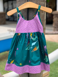 MADE IN HAWAII - Mermaids & Narwhals/Purple Dots Dress