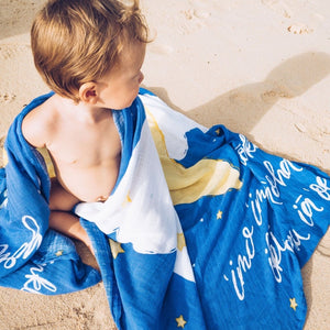 Twinkle Twinkle Little Hoku Hawaiian Aloha Theme Bamboo Cotton blend Blanket