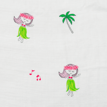 Hula Girl Hawaiian Aloha Theme Bamboo Cotton blend Blanket