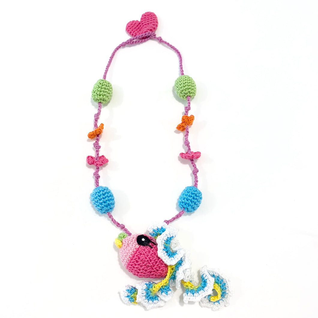 Crochet Necklace - Rainbow Fish