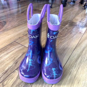 Fairy Dust Loop Handle Rubber Rain Boots