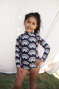 Girl's Lava Rainbow Print Long Sleeve Zip-Up