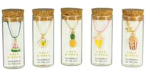 Charming Necklace in a Bottle - Food Collection
