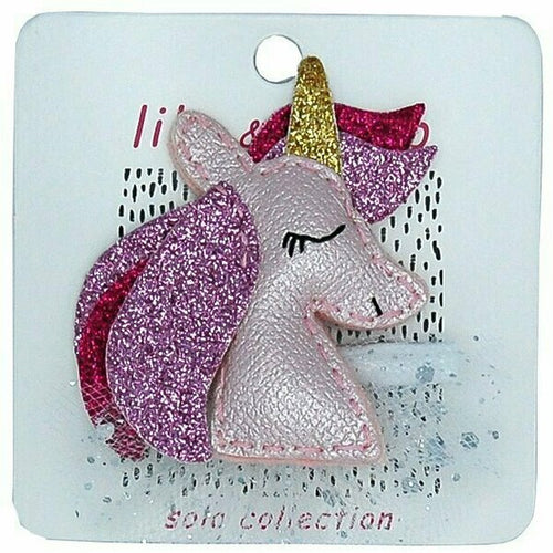 Pretty Pink Unicorn Hair Clip