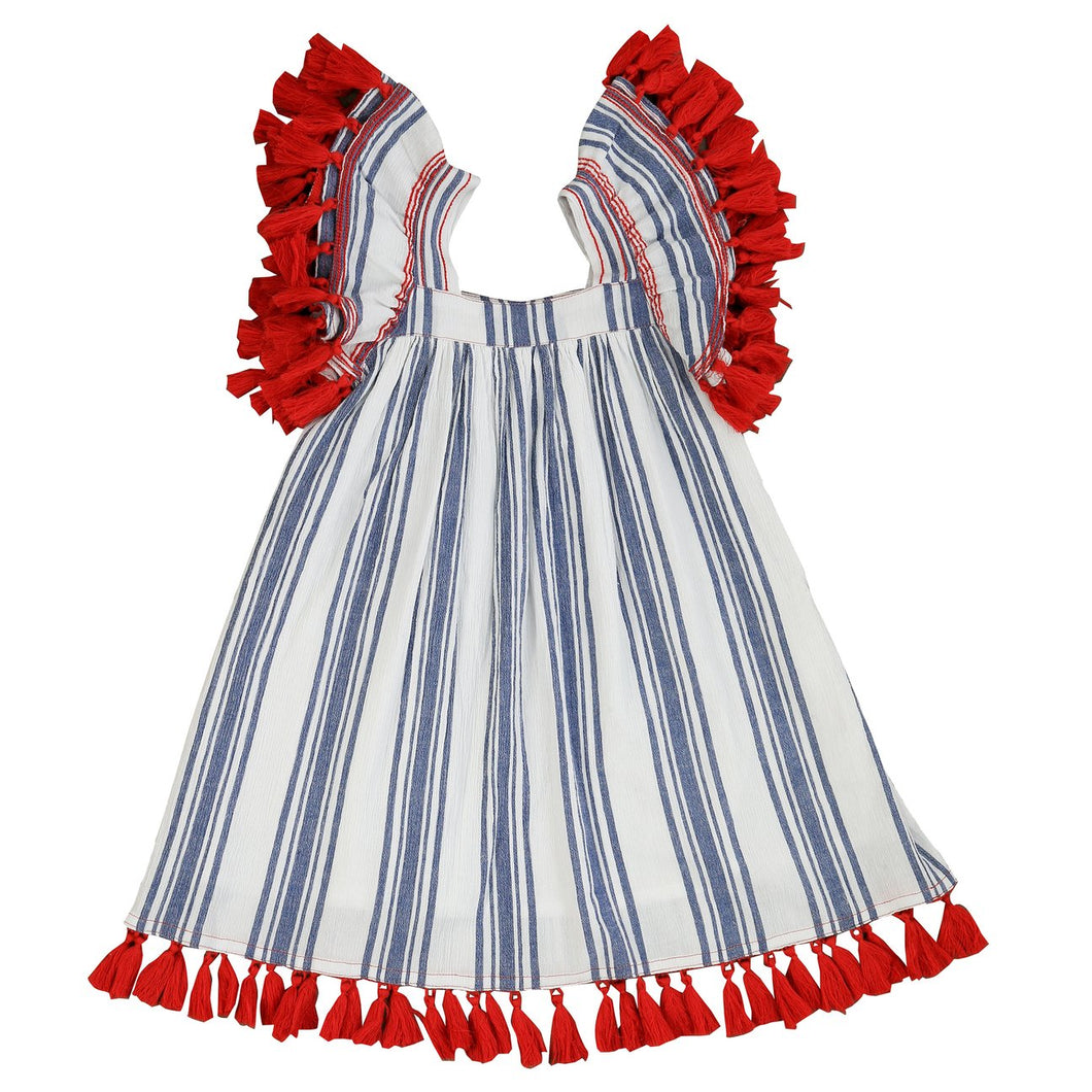 Serena Girls Tassel Dress