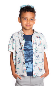 Aloha Shirt Surf Waves