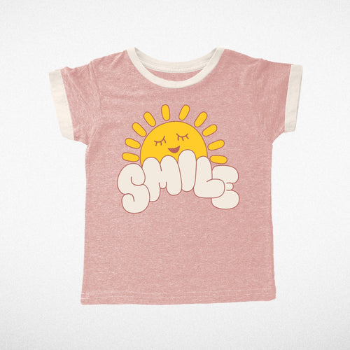 10yrs - Smile On Tri Rose Grils Tee