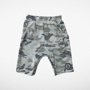 Good Vibes Army Boys Faded Camo Shorts