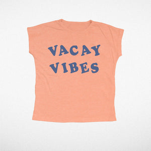 Vacay Vibes Tri Color Girls Tee