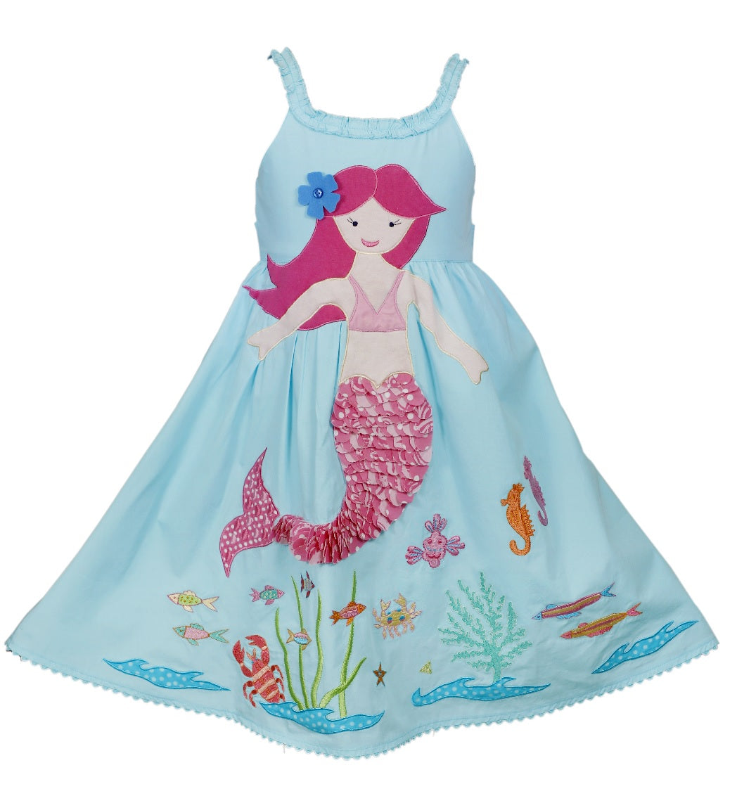 2yrs - Embroidered Mermaid Dress