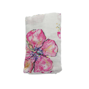Hibiscus Hawaiian Aloha Theme Bamboo Cotton blend Blanket