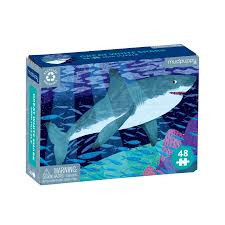Great White Shark Mini Puzzle - 48 pc Puzzle