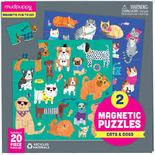 Magnetic Puzzles - Cat and Dogs