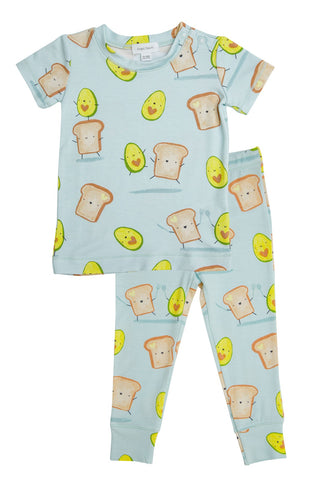 Avocado + Toast Lounge Wear Set Blue