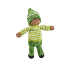 Green Pixie Doll Crochet Rattle Plushie