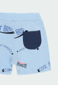 Fleece Bermuda Shorts Letters for Baby Boy