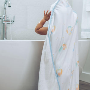 Hooded Towel with Wash Cloth Set - Shaved Ice