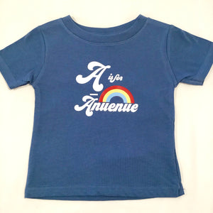 6M, 12M, 18M, 2T - Hawaiian Print Tee - A is for Anuenue (A is for Rainbow)