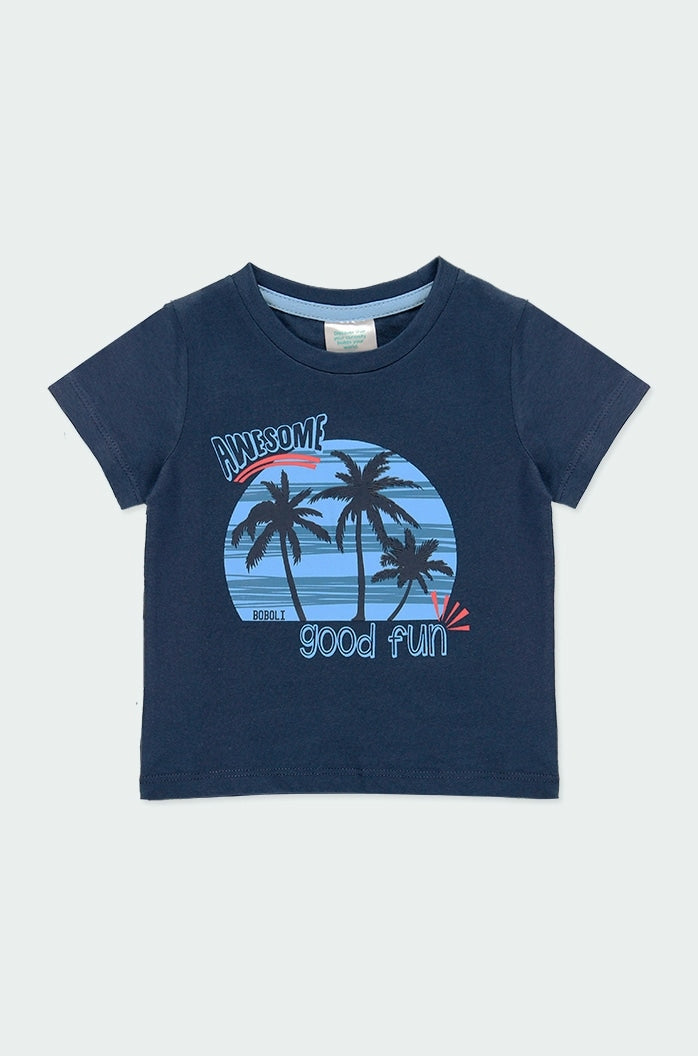Knit Tee with Palm Trees Awesome Good Fun