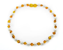 Polished Lemon | Mother of Pearl Authentic Certified Amber Necklace