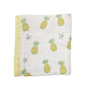 Pineapple Hawaiian Bamboo and Cotton blend Quilt