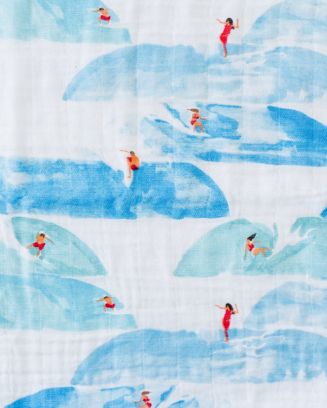 Cotton Muslin Swaddle in Surf