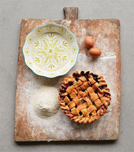 Hand-Painted Stoneware Pie Dish