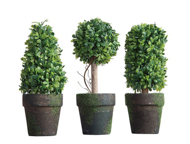 Mini Potted Artificial Topiary