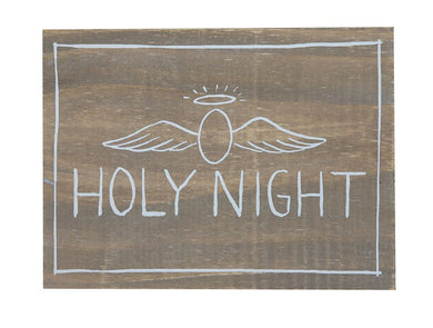 Holy Night Wood Plaque