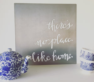 No Place Like Home Metal Sign