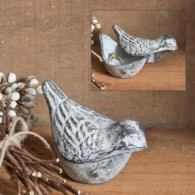 White Bird Trinket Holder