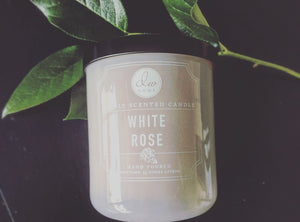 White Rose Candle