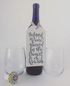 Finest Friend Wine Tag