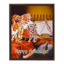 "Framed 11""x14"" Happy Holidays Canvas Print"
