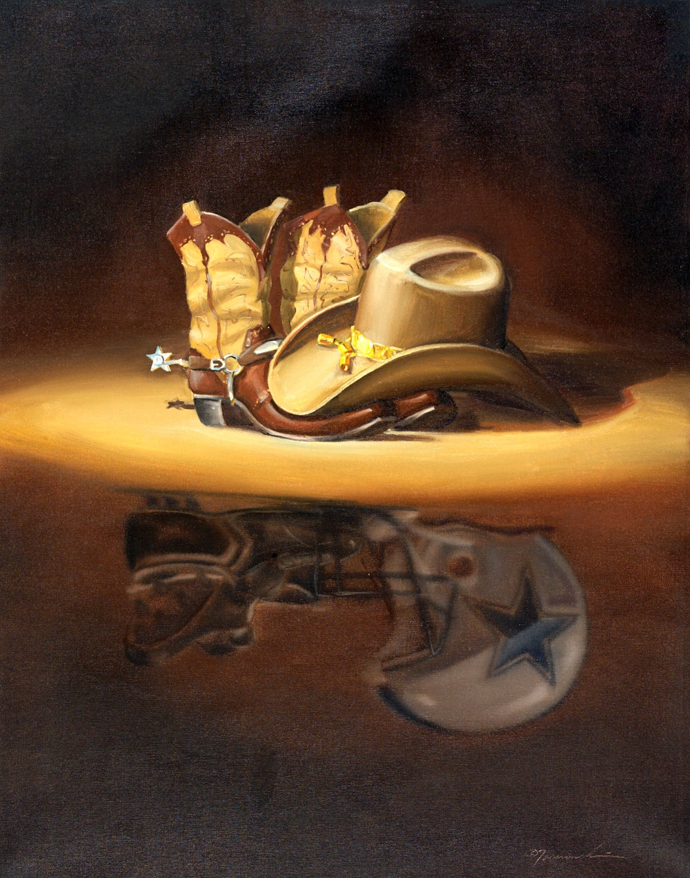 MA_Always a Cowboy: Oil on Canvas 32x25