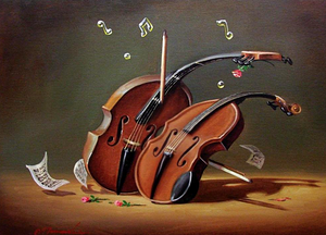 "AMA_Making Beautiful Music 24""x19""-SOLD"
