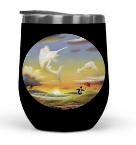 """Big Catch"" 12oz Travel Tumbler_MA"